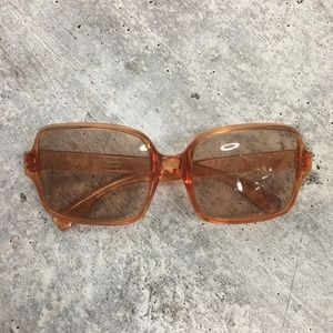 Vintage Made In Italy Transparent Glasses 70's-80'